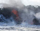 """وصول حمم بركان """"كيلاويا"""" بولاية هاواى الأمريكية إلى المحيط الهادئ"""