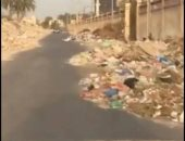 شكوى من تراكم القمامة على جانبى شارع مدرسة الريادة فى سموحة