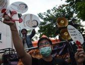 صور.. مظاهرات فى تايلاند تطالب الجيش بالتخلى عن السلطة