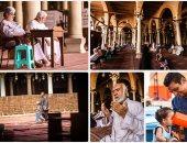 الصائمون يستمتعون بقضاء نهار رمضان فى المساجد