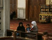 صور.. أجواء رمضانية فى المسجد الأموى بدمشق