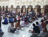 صور.. إفطار جماعى بالجامع الأزهر احتفالا بالذكرى الـ1078 لتأسيسه