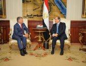 """صفحة الرئيس السيسى على """"فيس بوك"""" تنشر صورا من لقائه بملك الأردن"""