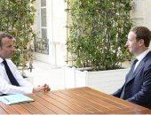 الرئيس الفرنسى يلتقى مؤسس فيس بوك فى محادثات حول الضرائب وخصوصية البيانات