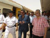 صور ..مدير أمن الإسماعيلية يتفقد محطة السكك الحديدية