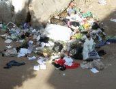 شكوى من انتشار القمامة بجوار مركز تحسين البيئة فى الباجور بالمنوفية