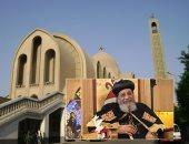 شعب الكنيسة يستقبل البابا تواضروس بالزغاريد وعلم مصر بقداس عيد القيامة