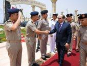 صور.. الرئيس السيسى يصل مسجد المشير طنطاوى لأداء صلاة الجمعة