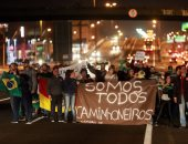 صور.. مظاهرات فى البرازيل على هامش إضراب سائقى الشاحنات