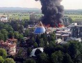 صور.. حريق هائل فى أكبر مدينة ترفيهية بألمانيا