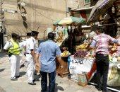 حملات لرفع الإشغالات بمدينة منشأة القناطر فى الجيزة ورصد سرقات الكهرباء