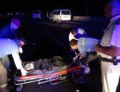 إصابة 5 اشخاص إثر حادث انقلاب سيارة أعلى دائرى الجيزة