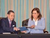 وزيرة التخطيط تشهد مراسم توقيع اتفاقية تسوية مديونية بنك الاستثمار القومي