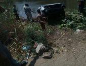 إصابة شخصين فى انقلاب سيارة نقل من أعلى الطريق الإقليمى بالمنوفية