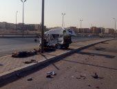إصابة 19 شخصًا فى حادثى تصادم بأسوان