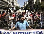 إضراب فى اليونان احتجاجا على إصلاحات مرتبطة ببرنامج المساعدة المالية
