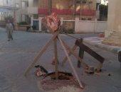 قارئ يحذر من وجود هبوط أرضى بشارع عبد الحميد رضوان بالإسكندرية