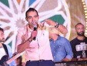 صور .. محمد عدوية يحيى خيمة رمضانية بالقاهرة الجديدة