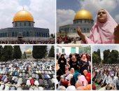 250 ألف فلسطينى يؤدون صلاة الجمعة الثالثة من رمضان فى المسجد الأقصى
