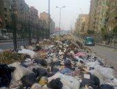 قارئ يشكو من انتشار القمامة فى مطلع كوبرى عزبة النخل