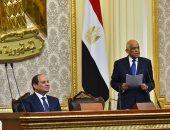 صور.. على عبد العال يرحب بالرئيس السيسى.. ويؤكد: البرلمان مرأة الشعب وضميره