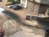 شكوى من انتشار مياه الصرف فى شارع سليم الزقلة بعزبة النخل
