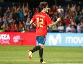 """فيديو.. بديل كارفخال يسجل """"ع الطاير"""" فى ودية إسبانيا وسويسرا"""