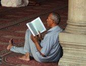 حلقات الذكر تعمر بيوت الله فى العشر الأواخر من رمضان