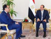 صورة.. السيسى خلال استقباله مصطفى مدبولى وتكليفه بتشكيل الحكومة
