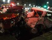 إصابة 3 أشخاص فى حادث تصادم  سيارتين بأسيوط