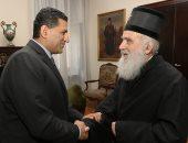 سفير مصر ببلجراد يطلع بطريرك صربيا على جهود إحياء مسار رحلة العائلة المقدسة
