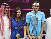 محمد الشوربجى ونور الشربينى يفوزان بلقب السلسلة العالمية للمحترفين