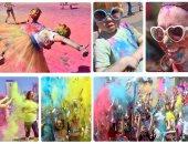 بهجة وفرحة مع انطلاق مهرجان الألوان فى أوكرانيا