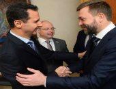 وفد روسى يقدم كرة المونديال الرسمية لأبناء الأسد
