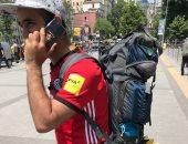 """من القاهرة لموسكو.. """"أحمد عصام"""" قرر يسافر لأرض المونديال بالاسكوتر"""