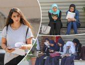 دخول الطلاب إلى اللجان بمدارس محافظة القاهرة لأداء امتحانى الفيزياء والتاريخ