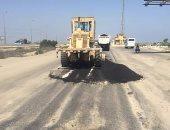 رصف طريق داير الناحية بشنشور بتكلفة مليون و500 ألف جنيه بالمنوفية