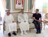 رئيس دولة الإمارات يستقبل أعضاء من أسرته بمقر إقامته فى إيفيان الفرنسية