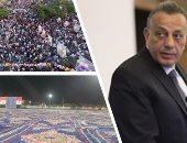 محافظ الجيزة يؤدى صلاة العيد وسط المصلين بمسجد مصطفى محمود