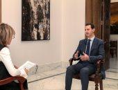 صور.. بشار الأسد: التواجد البريطانى الأمريكى فى سوريا غزو للبلاد