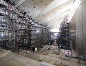 الآثار تنتهى من 85% من الأعمال الانشائية بالمتحف المصرى الكبير