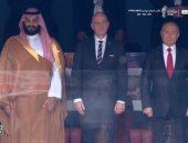 شاهد.. مصافحة بوتين وولى العهد السعودية فى افتتاح كأس العالم