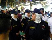 فيديو وصور.. الشرطة النسائية تشن حملاتها لتأمين الفتيات فى آخر أيام عيد الفطر
