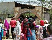 إقبال مواطنى بنى سويف على حديقة حيوان العبور فى أول أيام عيد الفطر