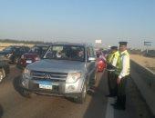 المرور يضبط 14 سيارة و دراجة بخارية متروكة فى حملات بالقاهرة