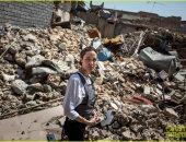 صور.. النجمة العالمية أنجلينا جولى تزور الموصل بالعراق