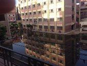 قارئ يرصد مستنقع مياه صرف صحى داخل مدرسة سبرباى الإعدادية بالغربية