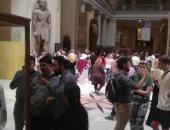 صور.. 5 آلاف مواطن يزورون المتحف المصرى فى أول وثانى أيام العيد