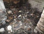 الحماية المدنية بالمنوفية تسيطر على حريق بمخزن قطن بشبين الكوم