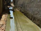 شكاوى من غرق شوارع قرية سحيم بالغربية بسبب تدهور حالة مواسير الصرف